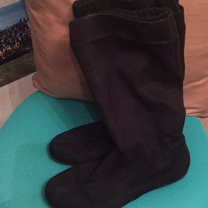Black Slouchy Boots Good Used Condition